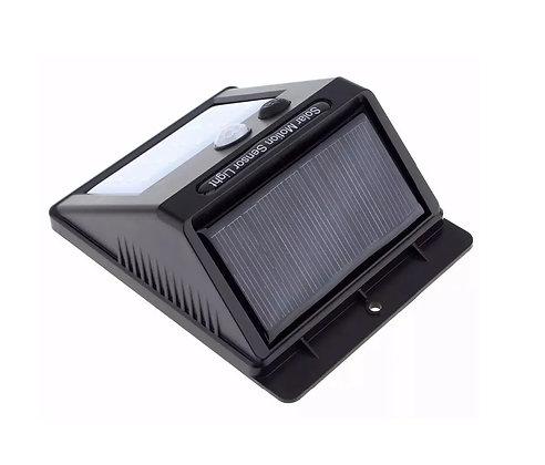3 Luminária 20 Leds Com Sensor De Presença Arandela Solar