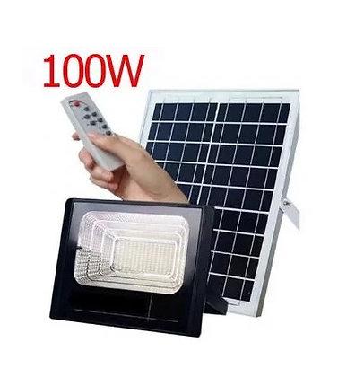 Refletor Solar 100w Energia Sensor kit Controle Remoto Holofote Led Iluminação