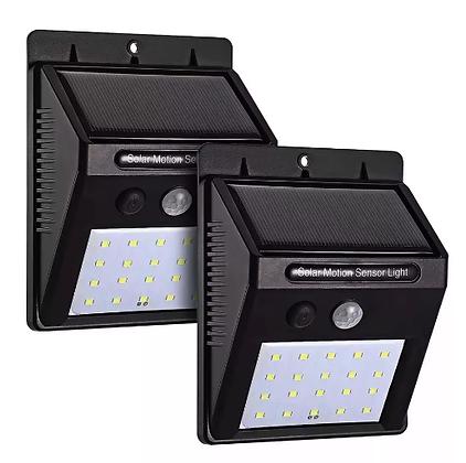 Luminária Com Sensor De Presença Arandela Solar 20 Leds