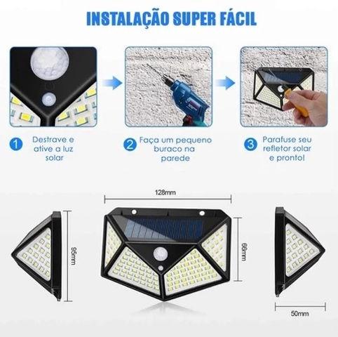 Instação_Super_Fácil_Luz_Solar_LED_100_L