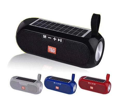 Caixa de Som Energia Solar Alto-falante Bluetooth 5.0 Portátil À prova D'água