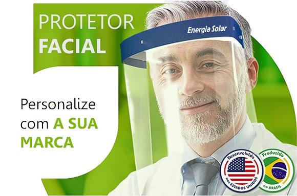50 Máscaras Protetor Facial Personalizado | Equipamento Extremamente Seguro