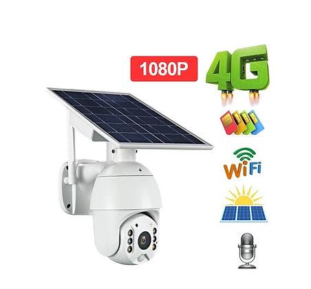 Câmera Energia Solar 1080P WIFI Cartão Memória 16GB Câmera Solar Visão Noturna