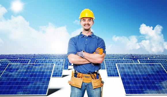 kit limpeza painel solar 9m escova saídas de água para limpeza de painel solar