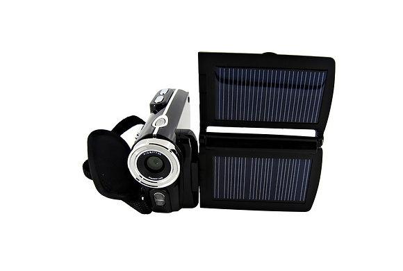 Câmera de Vídeo Digital Com Painel Solar HD 12MP Duplo Painel Solar