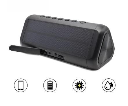 Caixa de Som Com Painel Solar Portátil Bluetooth 4.2 5000 mAh