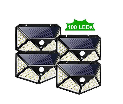 Refletor Solar 100 LEDs Super Brilho 1200 Lumens Alta Qualidade
