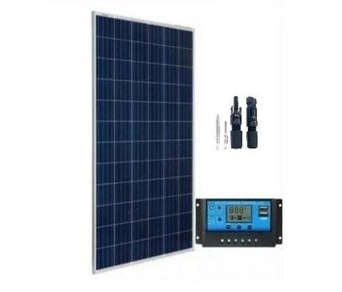 Kit Solar 150w Watts Painel Placa Controlador Solar Fotovoltaica