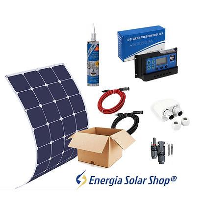 Kit Solar Embarcações Completo Painel Solar Flexível 140W Para Lanchas, Veleiros
