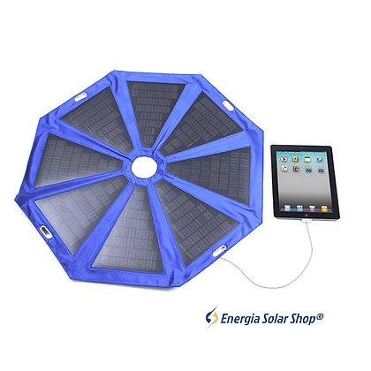2 Unidades Guarda-chuva Energia Solar Portátil Portátil 24W para praia, clubes