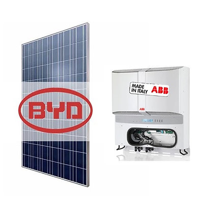 Kit de Energia Solar ABB 16,08 KWP BYD Poli HALF CELL S/ Estrutura
