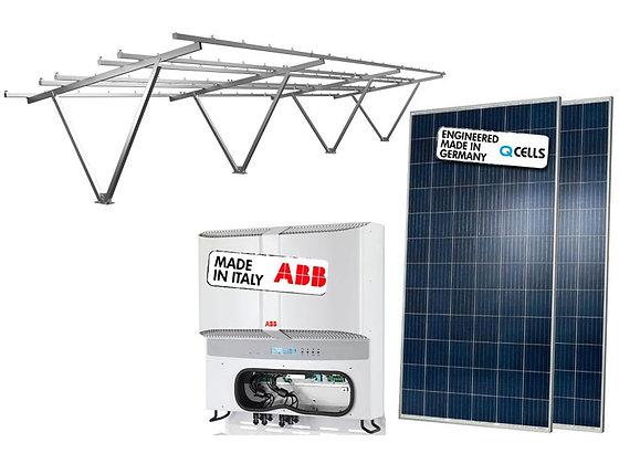 Kit Garagem Solar Estacionamento de Energia Fotovoltaico Potência de 16,08 kWp