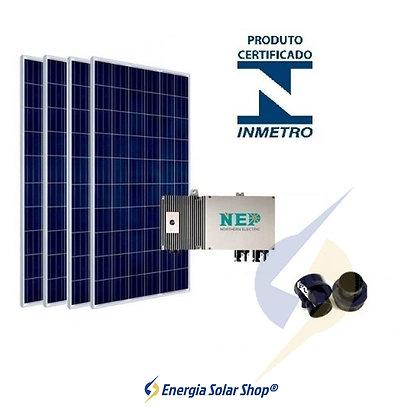 Kit Solar Fotovoltaico até 1100kwh Mês 7.0Kwp com Microinversor Mais Estrutura