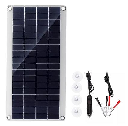 Painel Solar Portátil 15W Kit de Carregamento USB DC Dupla Porta USB
