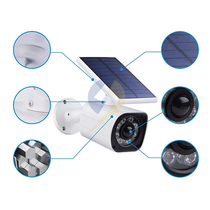 Luz LED Com Sensor de Movimento Controle Preventivo Anti Ladrão Energia Solar
