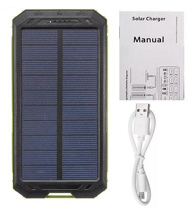 Carregador Solar 30000 mAh Universal com duas Portas USB