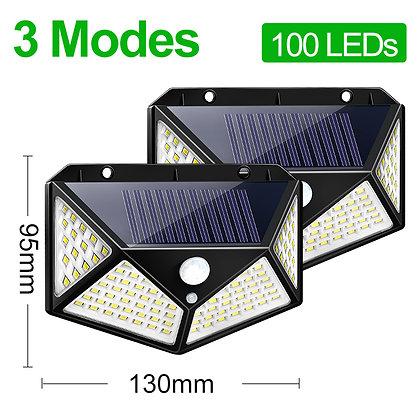 Refletor Solar 100 LEDS 1200 Lúmens P/ Decoração, Jardim, Condomínio