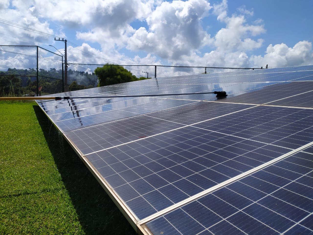 limpeza de painel solar sc maquina