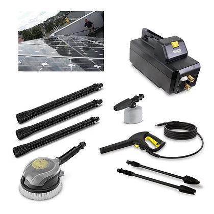 Kit Limpeza de Painel Solar Compacta e Fácil Limpeza Com Escova Giratória