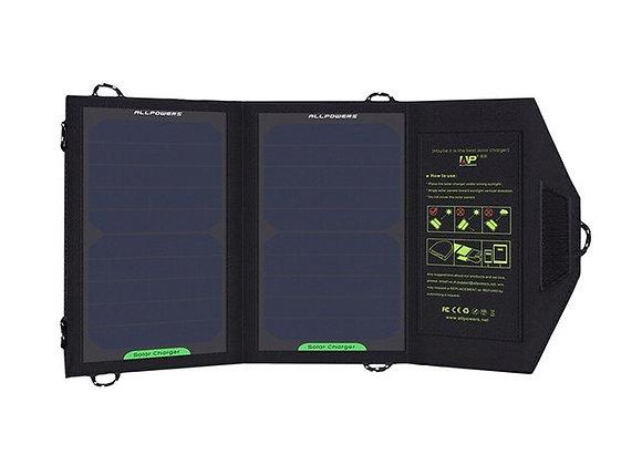 Carregador Energia Solar Dobrável Porta USB Carregador Solar Portátil