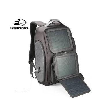 Mochila Energia Solar USB 15.6 Polegada Laptop Viagens de Negócios
