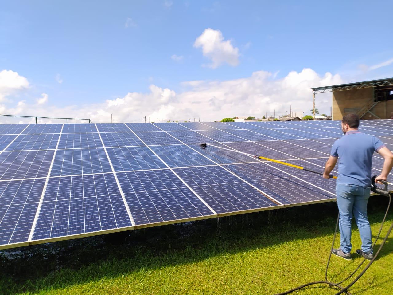 limpeza de painel solar sc lavar