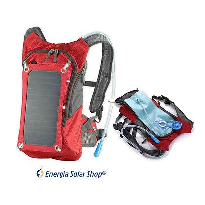 Mochila Energia Solar Painel Solar USB Esporte Ciclismo Saco de Água Hidratação