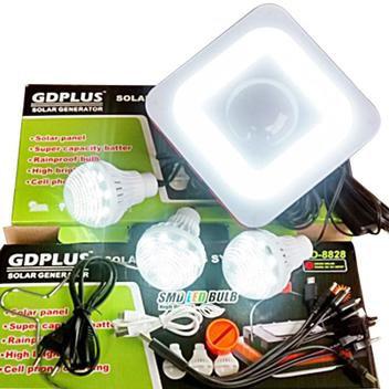 Kit Luminária Solar USB Celular 3 Lâmpadas Energia Solar Fotovoltaica LED