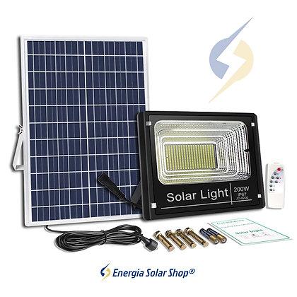 Refletor Solar Holofote LED 200w Ultra Iluminação
