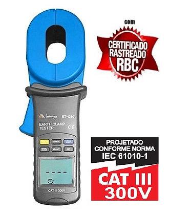 Alicate Terrômetro Digital ET-4310 MINIPA C/ Certificado de Calibração Rastreado
