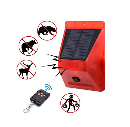 Alarme Energia Solar com Controle Remoto Sirene À Prova D' Água Portátil