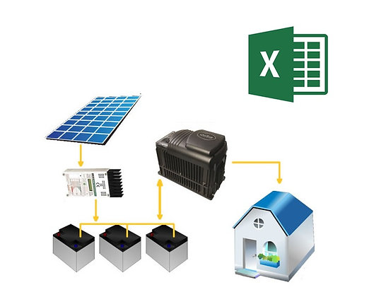 Planilha Off Grid Planilha Energia Solar OFF-GRID Dimensionamento Solar