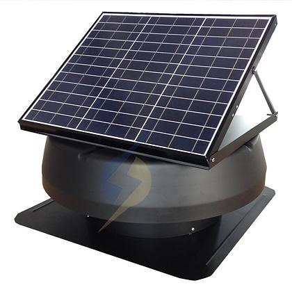 Exaustor Energia Solar 12W 12'' Painel Solar Ajustável