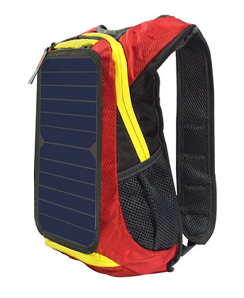 Mochila Energia Solar Multifuncional Vermelho 6w 6v USB