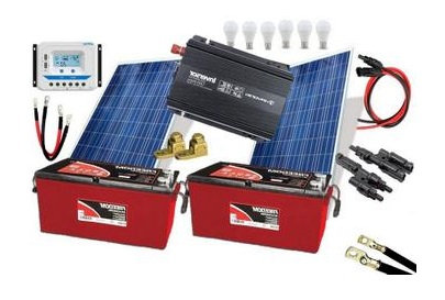 Kit Off-Grid 310Wp Gerador de Energia Solar Kit Off-Grid Para Uso Isolado