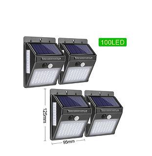 Luz Solar 100 LED Movida Energia Solar Ao Ar Livre Com Sensor