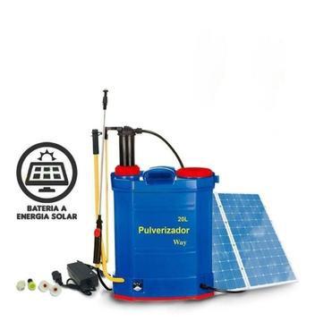 Pulverizador Solar Elétrico Costal Manual Bateria Painel 20 Litros