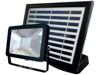 Refletor Solar LED 2W 6500K Cor Branca Luz Energia Solar Fotovoltaica