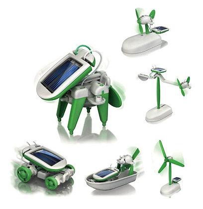 Brinquedo Solar 6 EM 1 Aprendizagem Educacional Energia Solar Robot Kit Fã Solar