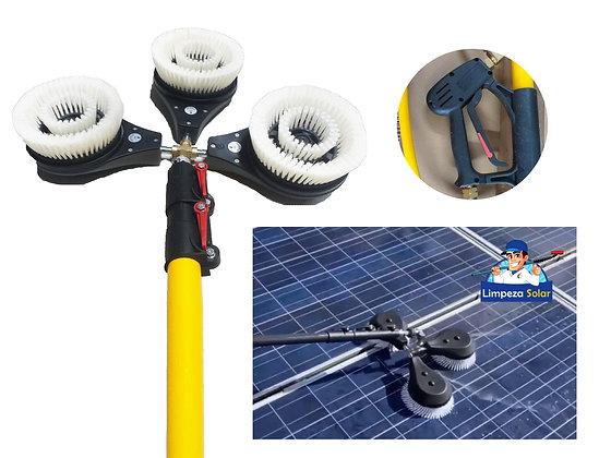 Equipamento de Limpar Painel Solar Com Escovas Giratórias Profissionais