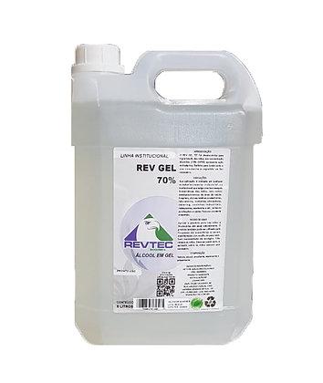 1 x Galão de Álcool Gel 5 Litros 70% Higienizador P/ Mãos Contra Vírus 5000g