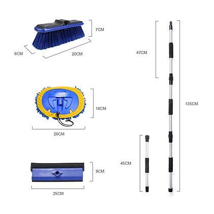 Kit Limpeza Painel Solar Telescópico 1,60 m c/ Passagem de Água e Dosador