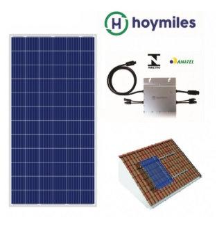Kit Fotovoltaico 0.65Kwp Hoymiles até 100kwh Mês Painel Znshinesolar 265w