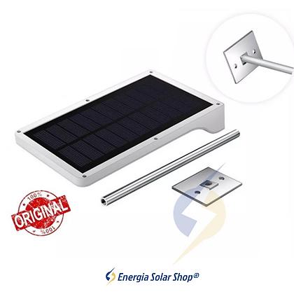 Luminária Solar ESS + Haste Potente Poste LED equivalente 100W