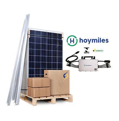 Kit Solar 1,32 Kwp com 4 Painéis Fotovoltaico Estrutura Inclusa