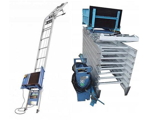 Equipamento para transporte vertical de painéis solares fotovoltaicos