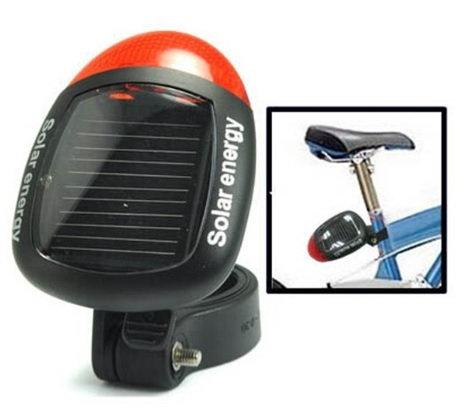 Solar Energy Luz Solar Traseira de Bicicleta Luz Modo de Diodo Emissor de Luz