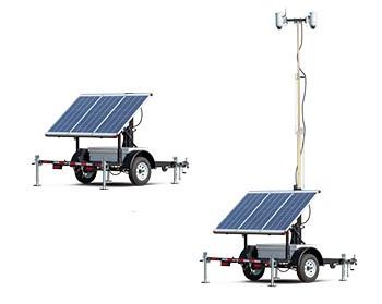 Reboque Solar Tipo Carretinha Para Torre de Iluminação Solar Fotovoltaica Móvel e Portátil