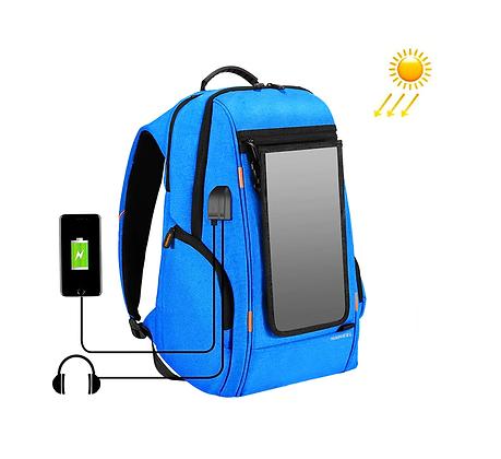 Mochila Energia Solar Design Inovador Placa Solar USB