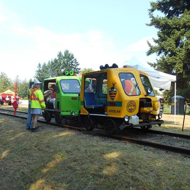 Speeder Rides for Qualicum Beach Station Centennial